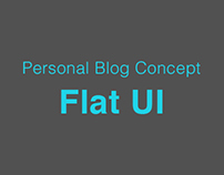 Personal Blog - Flat UI (V1)