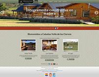 Website Cabañas Valle de los Ciervos