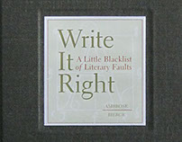 Book: Write It Right