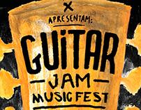 Poster Guitar Jam Music Fest