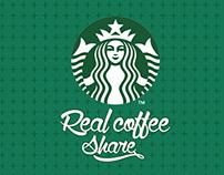Starbucks-Real coffee share