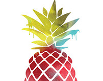 Pineapple pattern graphics