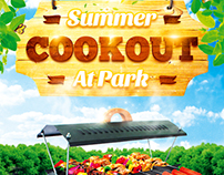 BBQ party flyer, PSD Template