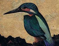 Acrylics and Gilding: Kingfisher
