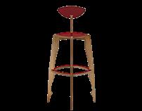 IWOODLIKE Bolero bar stool