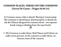 Common Places. Theses on the commons