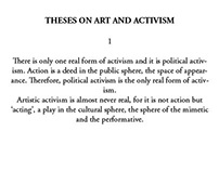 Theses on Art and Activism