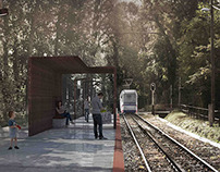 Station design of the rack-railway | competition