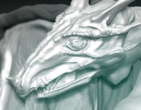CGI Dragon - Detailed Sculpt