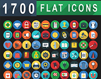 1,700 Flat Icons - Web Icons, Line Icons Set | iOS9