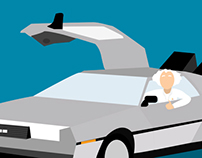 ILLUSTRATION - DeLorean - Back to the future