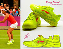 Professional Tennis Shoes for Peng Shuai 2012