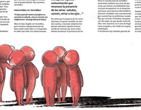 "Editorial illustration for the article ""No quiero ser i"
