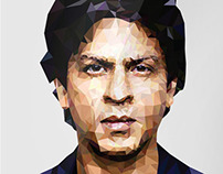 Shahrukh khan - Low Poly Poster