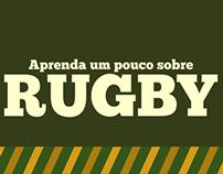 """Infográfico """"Aprenda um pouco sobre Rugby"""""""