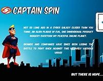 Uber Heroic Website Copy for Captain Spin