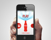 Coca Cola Make it happy app