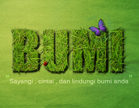 BUMI GRASS TYPOGRAPHY