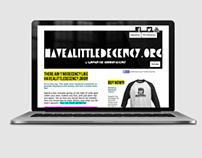 Have A Little Decency Website