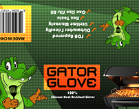 Gator Gloves Cardboard Strip design