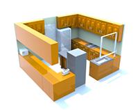 3D Render-Kitchen