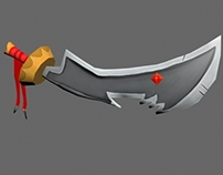 Hand Painted Shark Sword