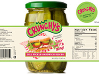 CRUNCHY'S Pickles - Package Design