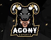 Agony Esports Mascot Logo