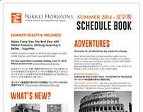 Nikkei Horizons Schedule Book