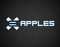 Ex apples logo design
