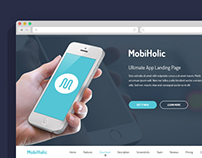 MobiHolic - Ultimate App Landing Page PSD Template