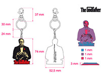 """The Godfather"" keyrings"