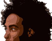 """Portrait vecto """"Afro"""""""