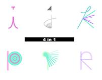 '4 in 1' Typeface