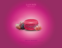 Laduree Macarons print advertising.