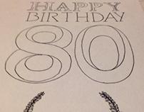 Second birthday card