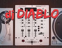 Dj Diablo - Website Mockup