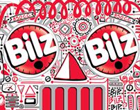 Illustration & lettering for Bilz y Pap soda