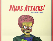 Poster Cinema Alternativo - Mars Attacks