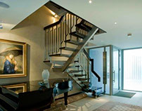 Blue House Contemporary Bespoke Staircase