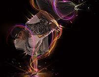 Break Dance With Lights.. by Adobe Photoshop CC..