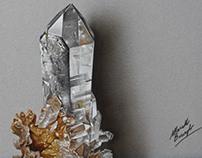 A hyaline quartz - drawing