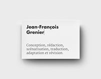 Jean-François Grenier : Identité