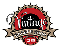 Vintage Barber Shop Logo Design & Sign
