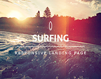 Surfing - responsive landing page