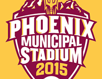 2014-2015 Branding of ASU at Phoenix Municipal Stadium