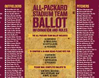 All-Packard Stadium Team Tri-fold brochure