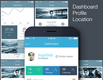 Flat UI for Mobile - Download PSD