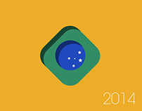 Brazil 2014 Soccer Worldcup Fan T-Shirts