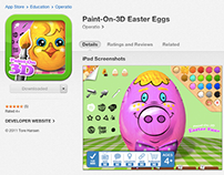 Paint-On-3D Easter Eggs for iPad